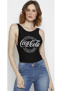 Body Com Inscriã§Ã£O Da Marca- Preto & Branco- Coca-Cococa-Cola