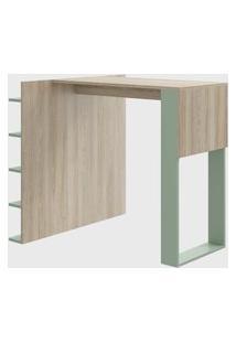 Mesa C/ Painel Mutiuso P/ Banquetas Verde/Aveiro Be Mobiliário