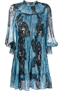 Ulla Johnson Vestido Reto Emmeline - Azul