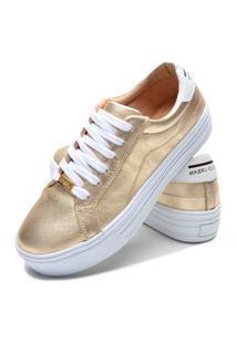 Sapatenis Feminino Calçados Gb Polo Urban Dourado