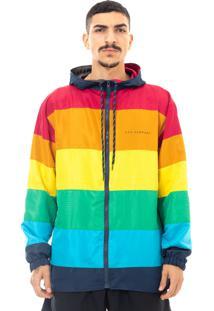 Jaqueta Dhg Clothing Company Lgbt Multicolorido Azul