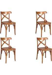 Kit 4 Cadeiras Decorativas Gran Belo Crift Carvalho Escovado