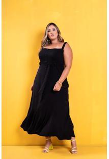 Vestido Yasmin Black Plus Size
