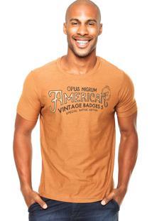 Camiseta Vinyl American Caramelo