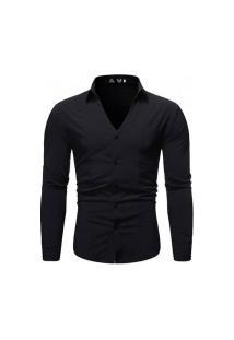 Camisa Masculina Fashion Style - Preta