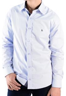 Camisa Zimpool Social Slim Fit Manga Longa Lilas