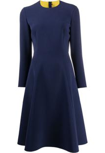 Ralph Lauren Collection Flared Crew Neck Dress - Azul