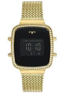 Relógio Feminino Technos Digital Bj3478Aa/4P - Feminino-Dourado