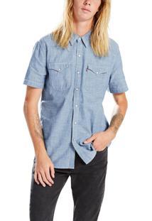 Camisa Levis Classic Western Azul Claro Azul