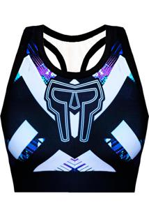 Top Galaxy Purple Spartanus Fightwear Roxo
