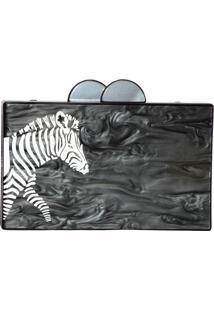 Clutch Clutch Me Yuca Zebra Preta