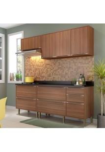 Cozinha Completa 5 Módulos 7 Portas Calábria Multimóveis Nogueira