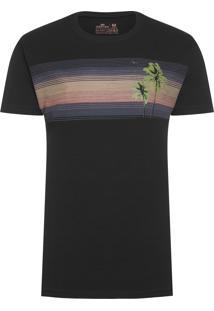 Camiseta Big Shirt Armação Stripes - Preto