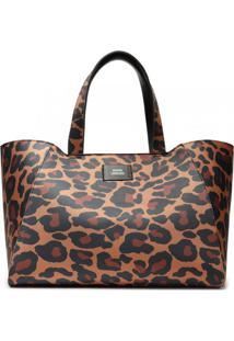 Bolsa Feminina Shopping Bag Animal Print Schutz S500100075