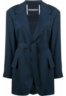 Frenken Oversized Drop Out Coat - Azul