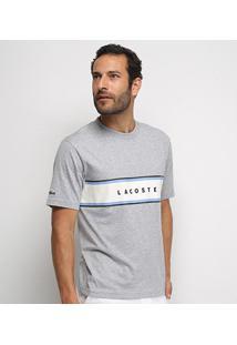 Camiseta Lacoste Manga Curta Masculina - Masculino-Mescla