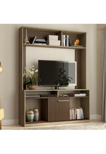 Estante Para Tv Até 47'' 1 Porta Es400 Wood/Cedro - Decibal Móveis
