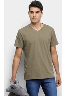 Camiseta Reserva Básica V - Masculino-Verde Militar