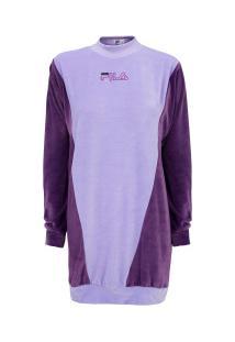 Vestido Fila Plush Block - Adulto - Roxo Cla/Roxo Esc