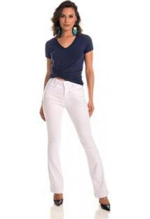 Calça Jeans Zait Flare Signus Branca - Feminino