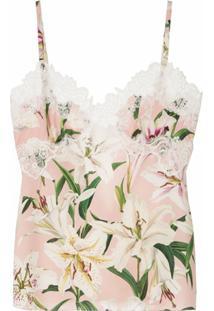 Dolce & Gabbana Blusa De Alcinha Com Estampa Floral - Rosa