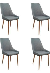 Conjunto Com 4 Cadeiras Anivia Cinza