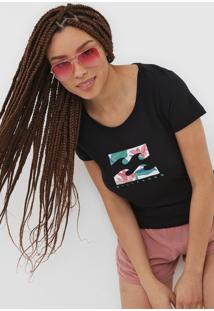 Camiseta Billabong Foward Feelings Preta - Preto - Feminino - Dafiti