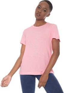 Camiseta Forum Neon Lettering Rosa