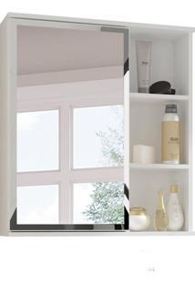 Armário De Banheiro Treviso Com Espelho 1 Pt Branco