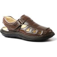 3a0ca099bd051 Sandália Doctor Shoes Comfort 917302 - Masculino-Marrom Escuro
