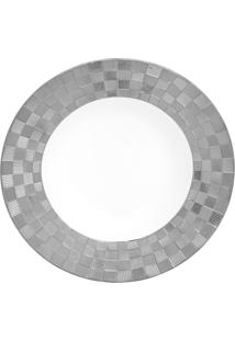 Conjunto 6 Pratos Fundos De Porcelana Super White Wolff 22X4Cm – Vera Silver