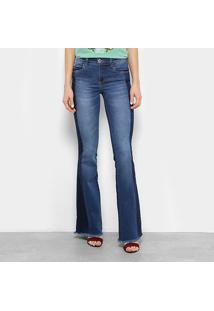 6d80b95de ... Calça Jeans Flare Colcci Barra Desfiada Bolso Plaquinha Cintura Média  Feminina - Feminino