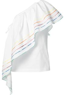 Rosie Assoulin Blusa Assimétrica - Branco
