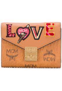 Mcm Porta-Moedas Com Patch Love Patch - Marrom