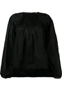 Nº21 Blusa Com Bordado - Preto