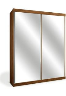 Armário 2 Portas De Correr, 2 Espelhos, Imbuia, Criare Iii