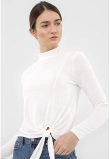 Blusa Dzarm Amarração Off-White