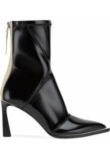 Fendi Ankle Boot Com Salto Estruturado - Preto