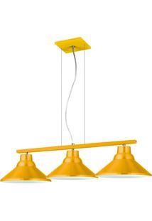 Pendente 6033 Redondo Triplo Amarelo