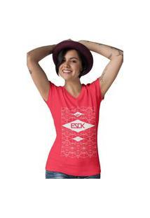 Camiseta Feminina Gola V Ezok Skate Lane Vermelho