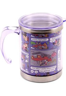 Caneca Minas De Presentes Mickey & Minnie Azul