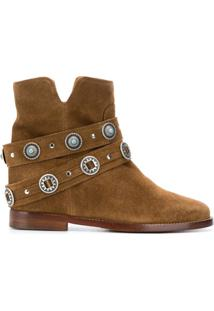 Via Roma 15 Ankle Boot Com Tachas - Marrom