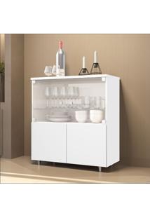 Cristaleira Bar 4 Portas Luxo 4000 Jb Bechara Branco