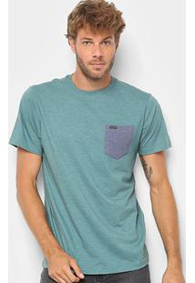 Camiseta Volcom Heather Pocket - Masculina - Masculino