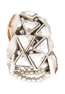 Camila Klein Anel Botões Triângulos - Prateado