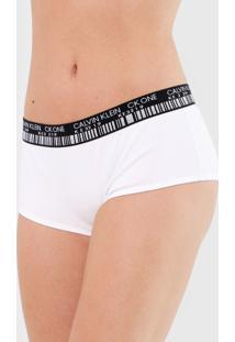 Calcinha Calvin Klein Underwear Boyshort Barcode Branca