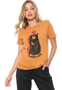 Camiseta Dzarm Boho Bear Caramelo