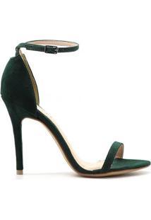 Sandália Royalz Tira Feminino - Feminino-Verde Escuro
