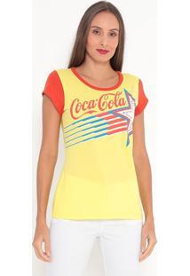 Camiseta Estrela - Amarela & Vermelha - Coca-Colacoca-Cola