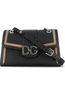 Dolce & Gabbana Bolsa Tiracolo Bicolor - Preto